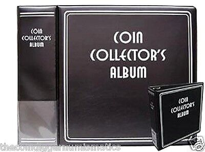 BCW Coin Collector's Premium 3 Inch Album 3 Ring Binder Book BLACK