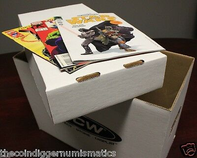 1 BCW Short Cardboard Comic Book Storage Box Holds 150-175 Comics Holder Case