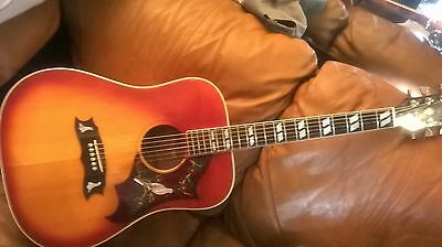 vintage gibson pearl dove custom acoustic guitar