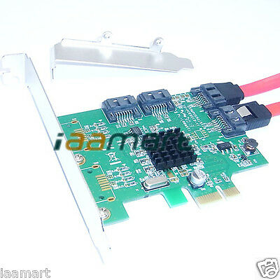 PCI-E to 4 SATA3.0 Card PCI-Express Adapter Converter SATAIII 6Gb/s