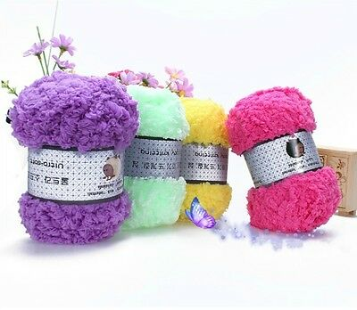 Soft Baby Knitting Woolen Yarn Craft Kids Chenille Knitting Warm Scarf Sweater G