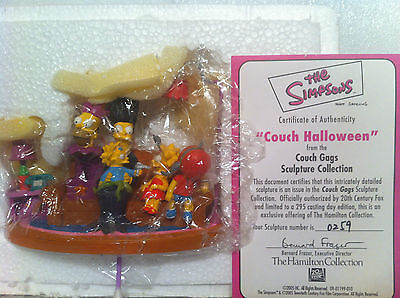 Simpsons Hamilton Sculpture Couch Gags Couch Halloween Limited Ed Figure Bnd New