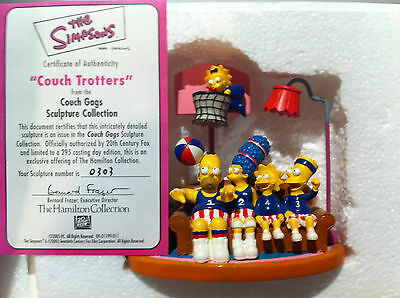 Simpsons Hamilton Sculpture Couch Gags Couch Trotters Limited Ed Figure New Rare