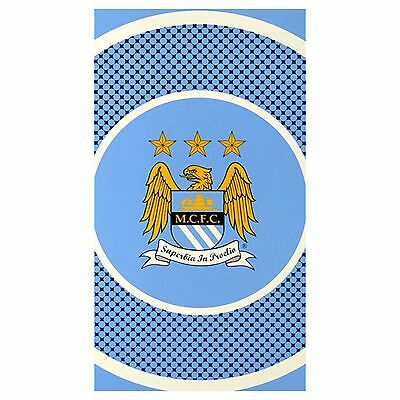Manchester City F.C Official Bullseye Towel 100% Cotton