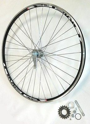Roue Arriere A Retropedalage Omega Rayon Inox Course Idéal Fixie Single Speed
