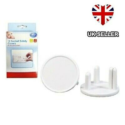 12 Safety Plug Socket Covers Guard Baby Child Proof Mains Electrical Uk Seller
