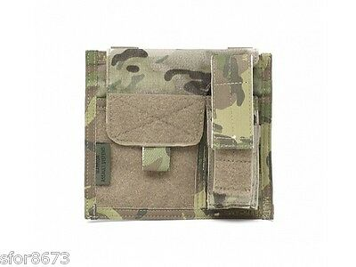Large Molle Admin Panel With Pistol Mag Pouch Black, Coyote, Multicam Pouch