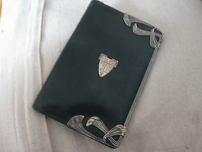 "Beatiful Leather and silver Art Nouveau Wallet 6"" x 4"""