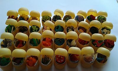 35 KINDER SURPRISE TOYS,no chocolate LAST YEARS  IN SHELLS EASTER EGGS HUNT