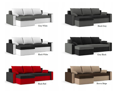"New Black Corner Sofa Bed""olivia"" Cheap Price  Many Colors"
