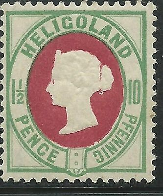 German States Heligoland Scott #17b VF Mint LH Sound Stamp
