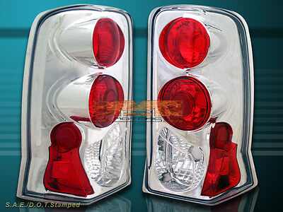 2002 2003 2004 2005 2006 Escalade Euro Chrome Tail Lights Brake Lamps
