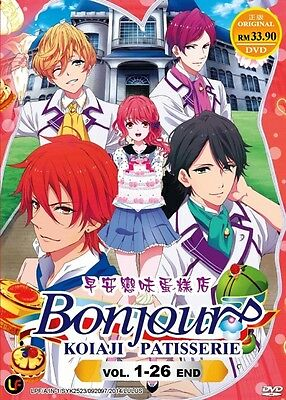 Bonjour : Koiaji Patisserie, TV Eps.1-26  Complete Anime DVD Box Set! NEW