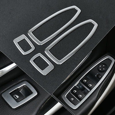 Stainless Car Door Window Switch Panel Trim Cover For BMW 3 Series F30 320 328