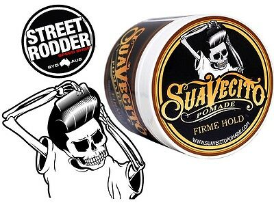 SUAVECITO FIRM Hair Pomade 113g Firme Strong Hold Rockabilly Greaser Quiff Pomp