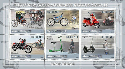 Road transport II / Two wheels - Mozambique 2009 m/s MNH Sc. 1821 #MOZ9107a