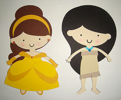 Belle Beauty and Beast Pocahontas paper Doll Scrapbook Embellishment