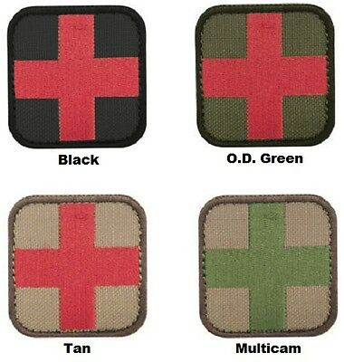 """CONDOR #231 Medic First Aid Cross Patch 2"""" x 2"""" Choose your color"""
