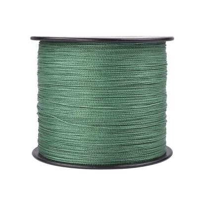 1500M 2000M 4 Strands Green Braided Fishing Line Super Strong Spectra PE Dyneema