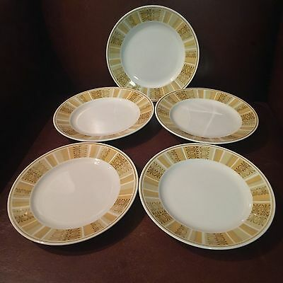 Franciscan ANTIGUA Set of 5 Bread and Butter Plates Whitestone Ware - Excellent!