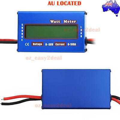 VOLTAGE CURRENT METER 12v electrical solar battery test 0-60V 0-100A Analyzer