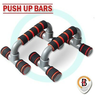 PUSH UP BAR HANDLE PUSH-UP STAND GRIP for HOME FITNESS EXSERCISE WORKOUT RED