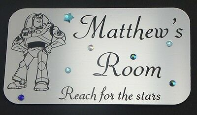 Personalised Toy Story - Buzz Lightyear Bedroom Door or Wall Name Plaque