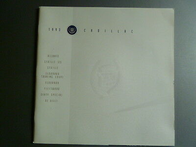 1993 Cadillac Full Line (Range) Deluxe Showroom Sales Brochure Awesome L@@K