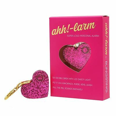 Ahh!-larm Pink Super Loud Personal Alarm Key Chain With LED Safet Light