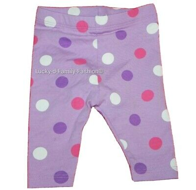 NEW baby girl TU Purple pink white Spotted comfy leggings age up to 1 & 3 Months