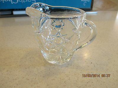 Anchor Hocking EAPC Prescut Oatmeal Star David 16 oz PITCHER CREAMER