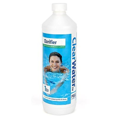 Clearwater 1LTR Clarifier Swimming Pool Lay Z Spa Water Cleaning Chemical CH0009
