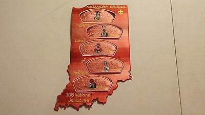 2013 National Jamboree Sagamore Council Salmon Ghost - Ghosted - Patch Set - DK