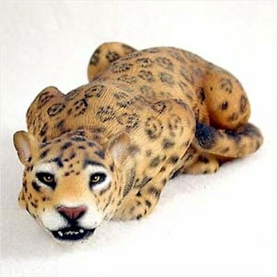 Realistic Hand Painted Cold Cast Stone Resin Jaguar  Display Figurine