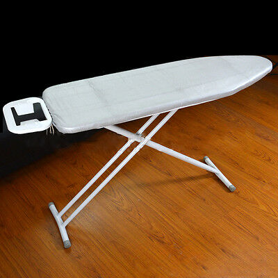 """15"""" by 48"""" Silver Fireproof Ironing Board Cover W/Fiber Pad Bungee Binding"""