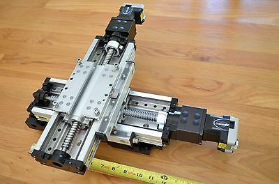 "12"" Parker 404XR Linear Actuator XY Stage, IMS MDrive17 Stepper Motors -CNC DIY"