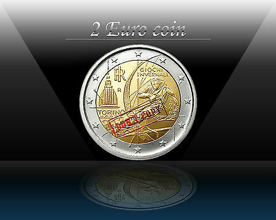 """ITALY 2 EURO coin  2006 """" XX Olympic Winter Games """" UNCIRCULATED"""