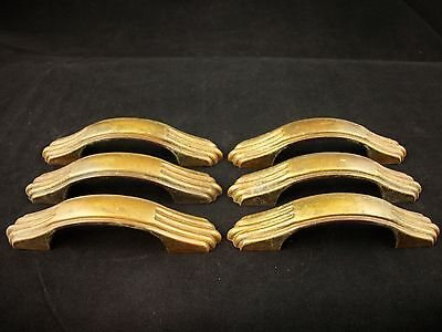 Antique Brass Plated Desk Drawer Pulls Vintage Federal Claw Handles Cabinet
