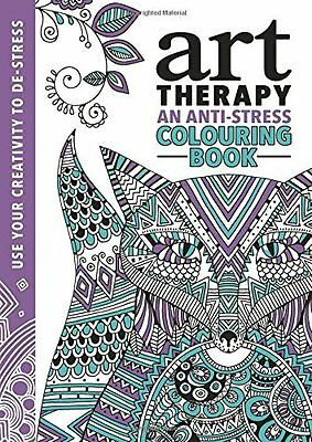 The Art Therapy Colouring Book by Richard Merritt New Paperback Book