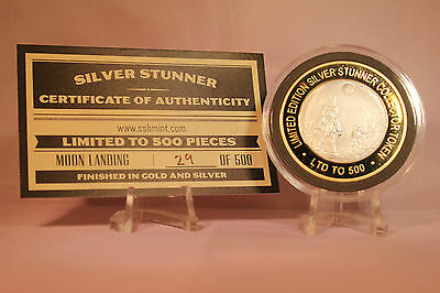Moon Landing 20/07/1969 Silver Stunner Coin - Limited Edition 500 Released