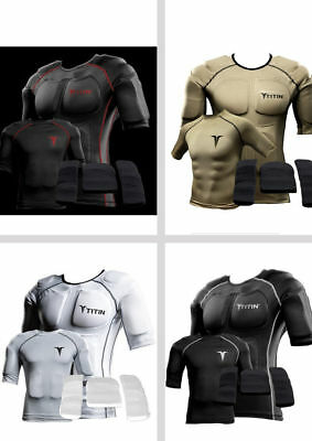 TITIN FULL Weighted Compression Shirt System Training 8 lbs Gels WATERPROOF NEW