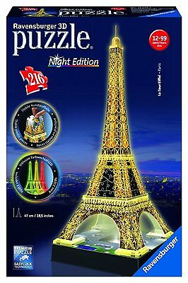 Puzzle 3D Tour Eiffel , Night Special Edition , Ravensburger 12579 NUOVO