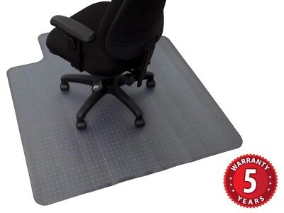 LARGE Chair Mat 1350 x1150mm Smooth for Hard Floor Surfaces 5 Yr Wty MATSML