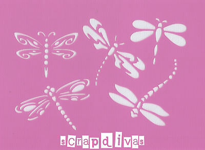 Scrapbooking - STENCILS TEMPLATES MASKS SHEET - Dragonfly Design 44