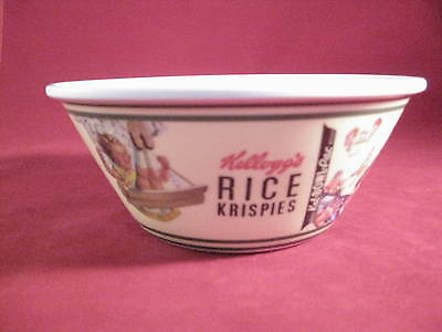 Set of 2 Kelloggs Rice Krispies Cereal Bowls With Vintage Pictures