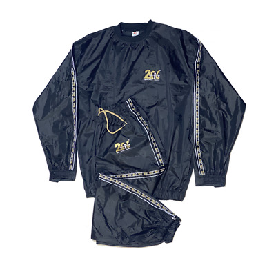 2Fit Sweat Sauna Suit Red Exercise Gym Track Suit Fitness Weight Loss Sauna Bath