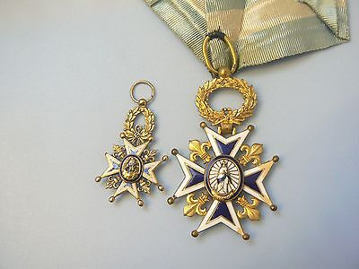 SPAIN KINGDOM, ORDER OF CHARLES (Carlos) THE III, WITH 18K MINI, a beautiful set