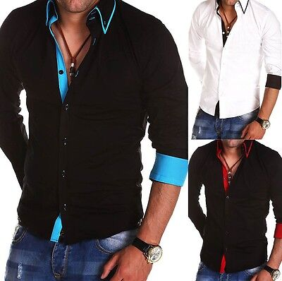 New Stylish Mens Slim Fit Casual Shirt Button Down 100% Cotton M L XL XXL PS10