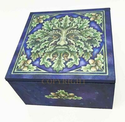 Celtic Forest Lord Greenman Trinket Box with Mirror by Designer Lisa Parker