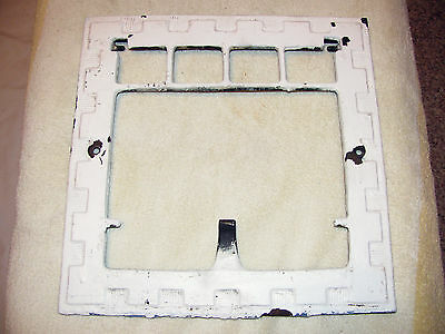 Antique Vintage Ornate Wall Vent Heat Register Grate frame cast iron 11 3/4""